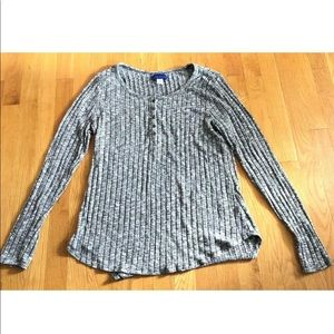 Simply Styled By Sears Black White Shirt XL